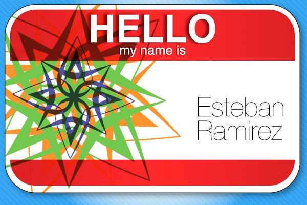 heres a quick vector name tag see more of my work at doubleplusphotowordpresscom thanks for all - Name Tag Design Ideas