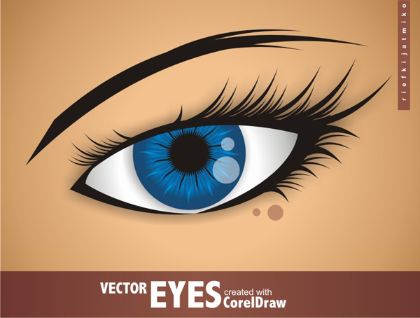 Link toCreating vector eyes with coreldraw