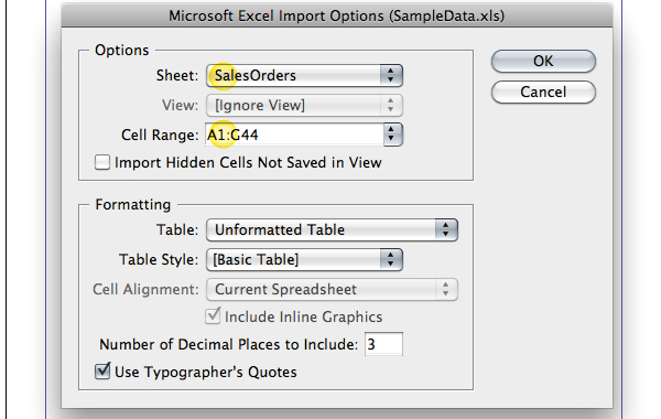 how to create table indesgin