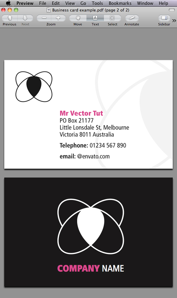 Link toQuick tip: designing a business card with indesign cs5