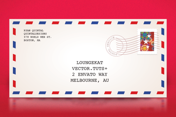 Quick tip how to make a classic air mail envelope with adobe a happy holiday quick tip with ryan shows us how to create a classic envelope in adobe illustrator using simple shapes effects and gradients accmission Choice Image