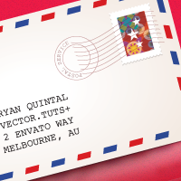 Preview for Quick Tip: How to make a Classic Air Mail Envelope with Adobe Illustrator