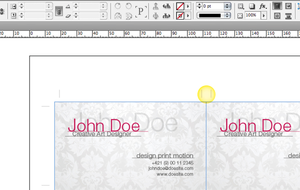 Quick tip how to impose business cards for digital printing with in this tutorial we used a business card without bleed if you are going to impose business cards with bleed you need to create double crop marks cheaphphosting Image collections
