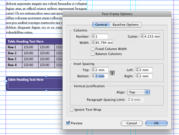 Quick Tip: How to Make Tables With Rounded Corners in InDesign