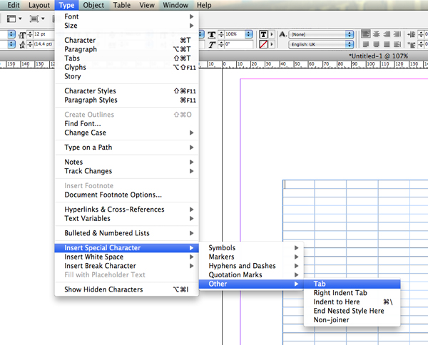 Quick tip eleven tricks that will help your workflow in for Indesign table