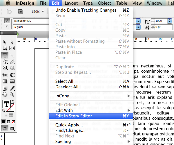 how to make columns within a text box indesign