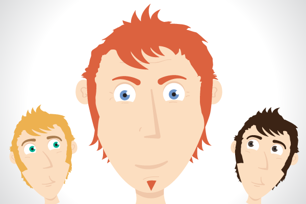 Character Making In Illustrator : Quick tip create a simple character face with vector shapes