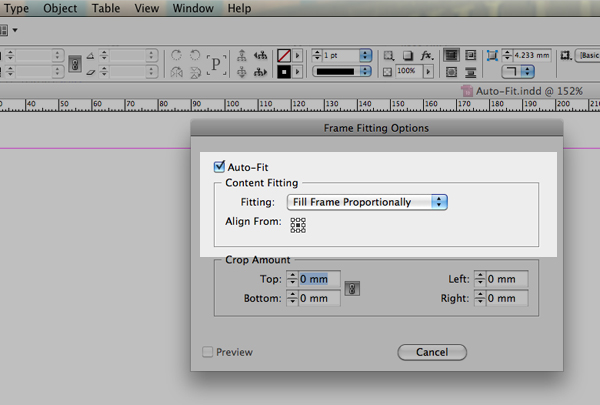 Quick Tip: Using the Auto-Fit feature in InDesign CS5