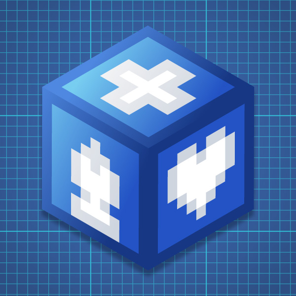 Quick tip: how to make a retro pixel cube with adobe illustrator