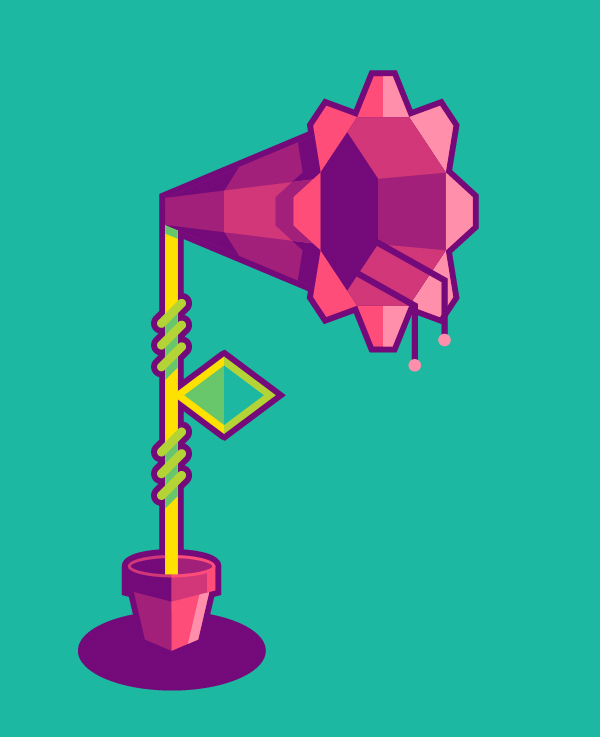 Link toHow to design a flower in a geometric style
