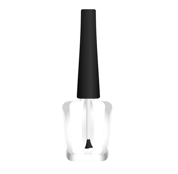 How To Create A Nail Polish Bottle With Basic Shapes And Gradients