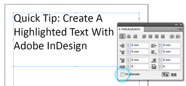 Adobe indesign text background color