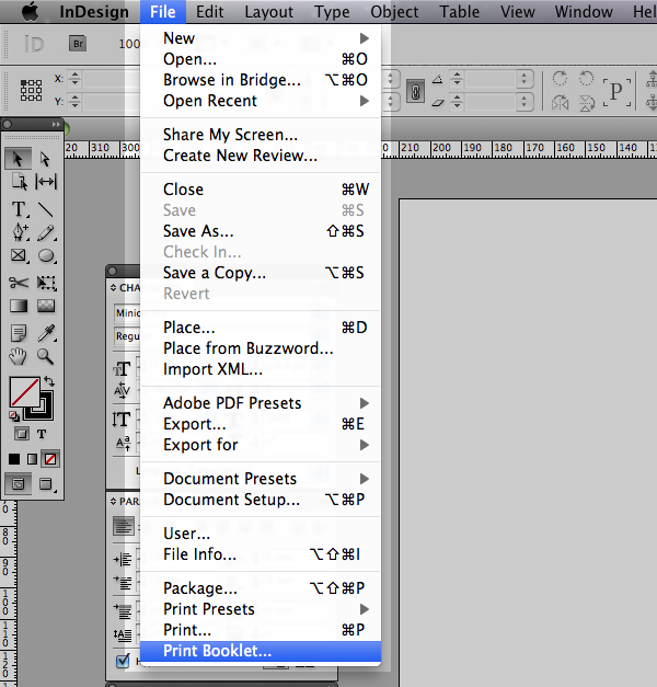 quick tip: using the print booklet feature in indesign cs5