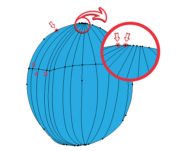 how to draw outside or close the ellipse tool