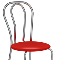 Preview for Quick Tip: How to Create Metal Chair Using Gradient on Strokes in Adobe Illustrator CS6