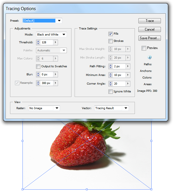 illustrator cs6 how to live trace