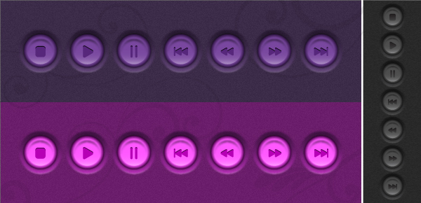 Link toQuick tip: create a set of embossed player buttons