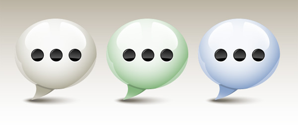 Link toQuicktip: how to create a glossy speech bubble icon