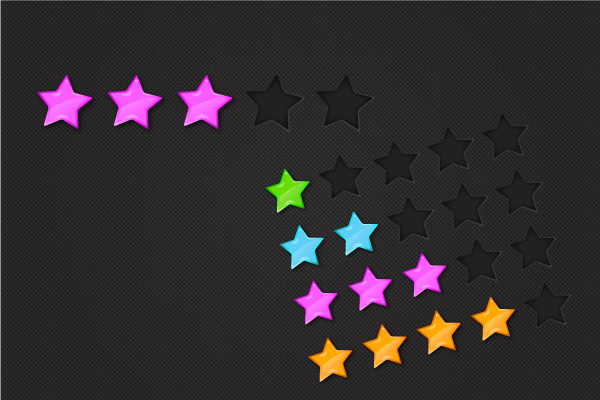 Link toQuick tip: create colorful glossy rating stars