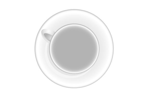Empty Cup Top : Quick tip how to create a cup of coffee in top view