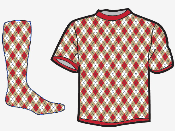Quick tip: make a seamless argyle pattern