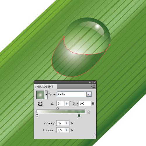 Как создать капельку воды в Adobe Illustrator