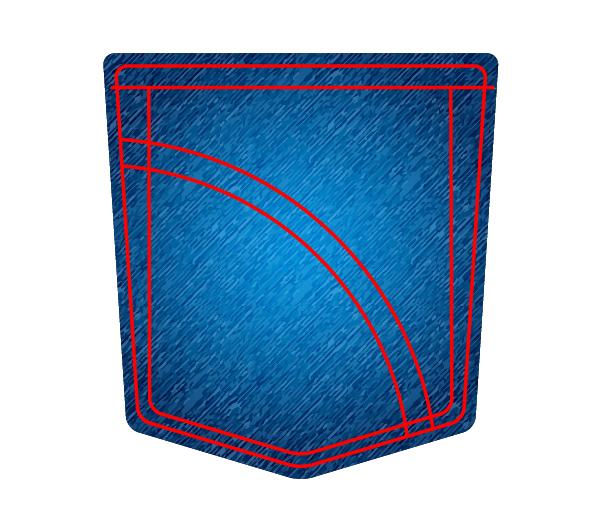 create a jeans pocket icon using adobe illustrator