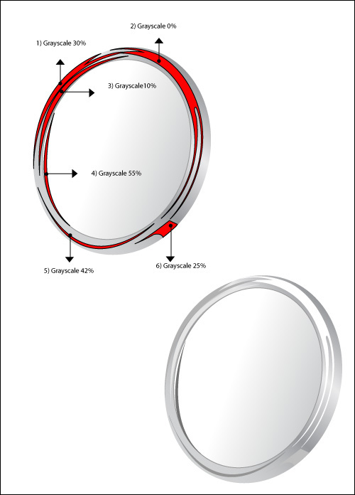 draw a shiny make up mirror with adobe illustrator