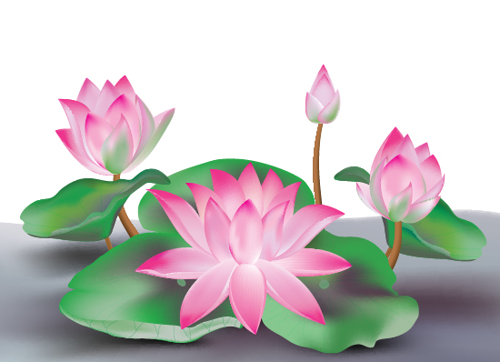 Link toCreate a lotus flower with adobe illustrator cs5