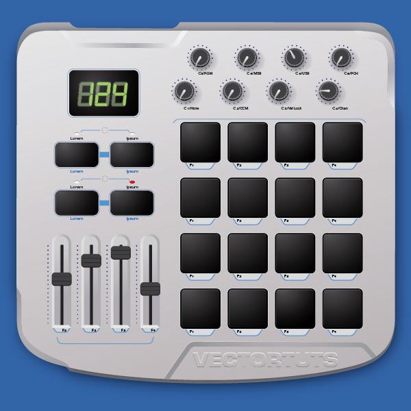 create a midi drum machine in illustrator. Black Bedroom Furniture Sets. Home Design Ideas