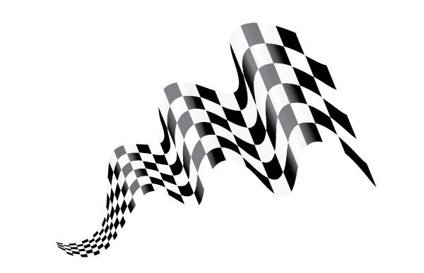 Racing Checkered Flag >> Create Waving Checkered Flag Art in Adobe Illustrator