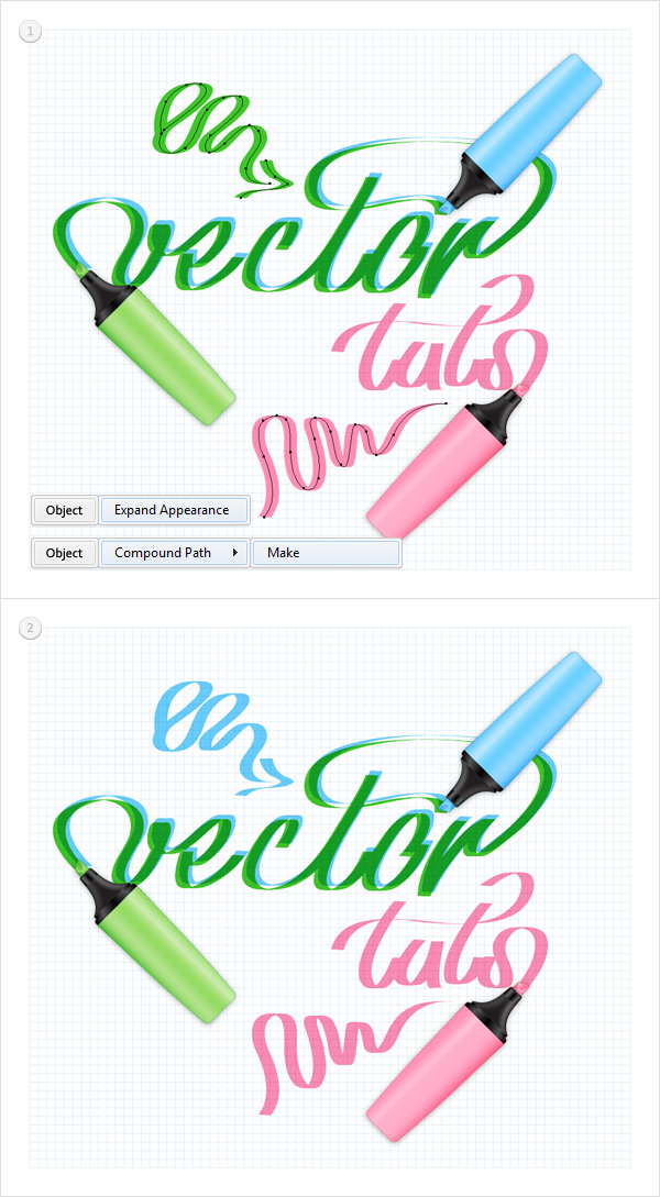 how to create a pen like effect vector