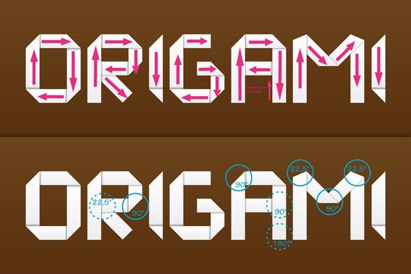 tuto texte origami
