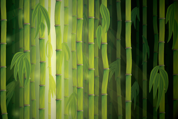 Link toCreate a vector bamboo forest with blends, brushes and profiles