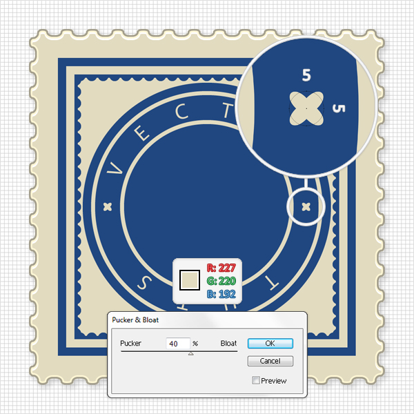 How to create a vector stamp set in illustrator for Uncontrolled document stamp