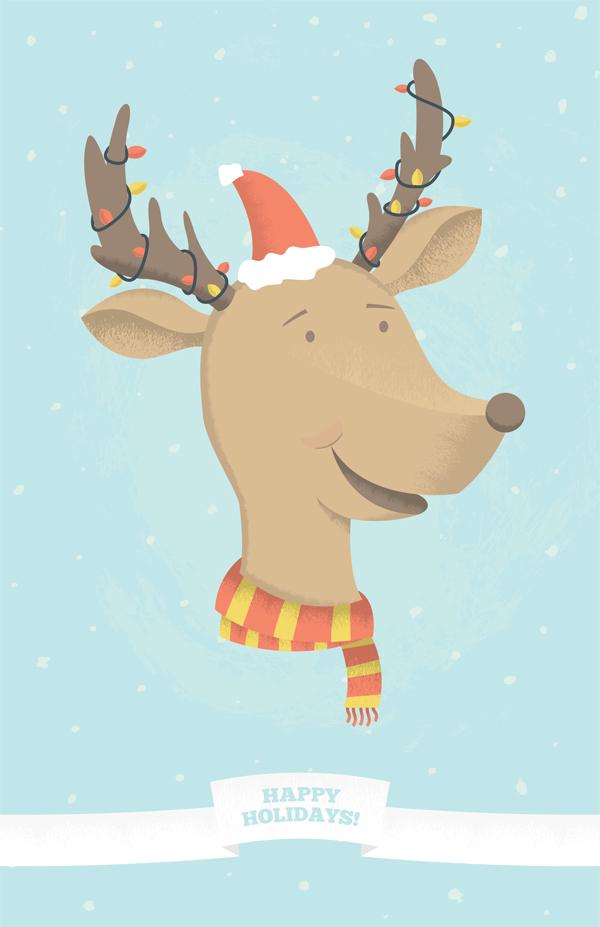 Link toMake a fun holiday reindeer illustration