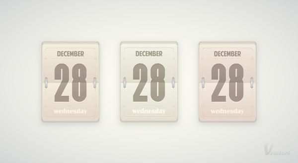 Diy Daily Flip Calendar : Create a vector daily flip calendar