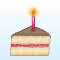 Preview for Creating a Slice of Cake Icon with Adobe Illustrator