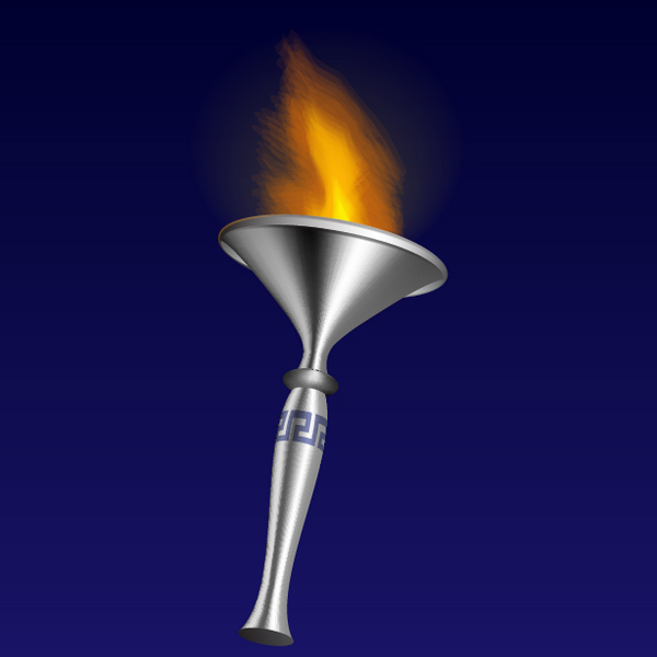 Link toHow to illustrate a 3d fire torch