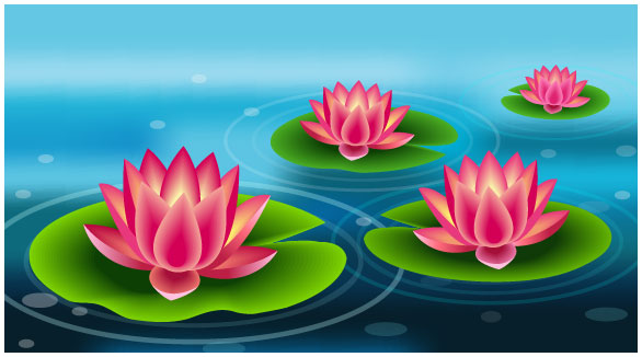 Link toCreate a beautiful lily pad using adobe illustrator