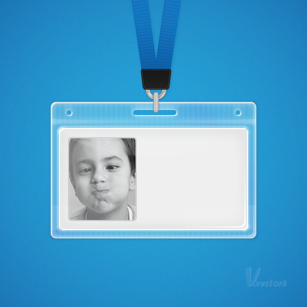 create a plastic id badge in illustrator
