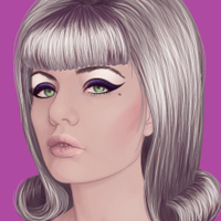 Preview for Changing Hair and Makeup to Create a Retro Style in Vector Portraits