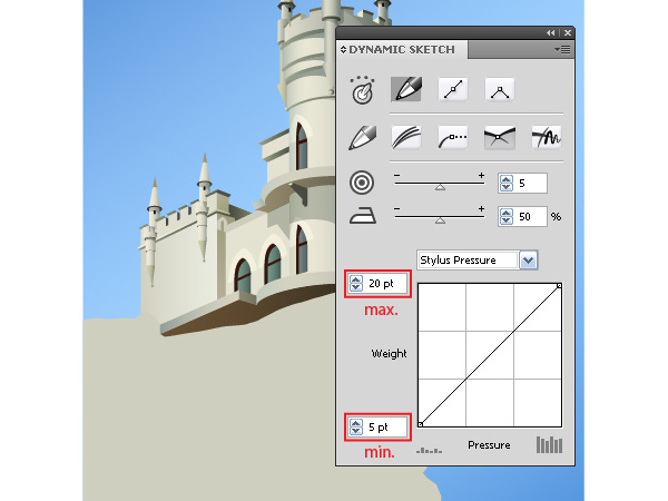 Create a Fairy Castle Using Illustrator and DrawScribe - Dynamic