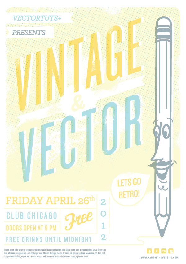 Link toVintage vector design workflow: creating a retro flyer design