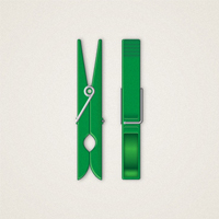 Preview for Create a Detailed, Vector Clothespin Illustration
