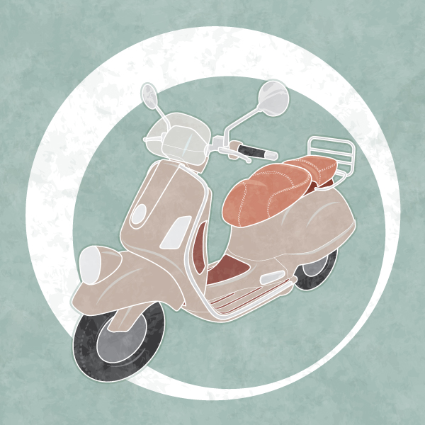 Link toHow to create a line art vintage vector scooter in illustrator