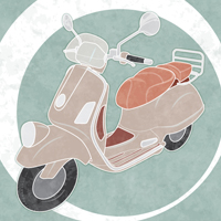 Preview for How to Create a Line Art Vintage Vector Scooter in Illustrator
