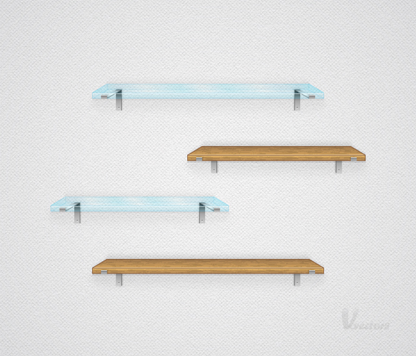Link toCreate a simple set of vector shelves
