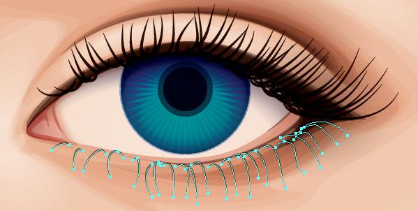 Как сделать чтобы блестели глаза