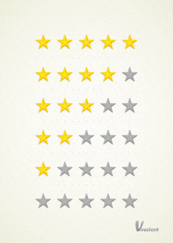 Link toCreate a set of detailed, vector rating stars